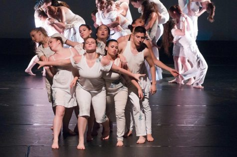 Students perform the piece