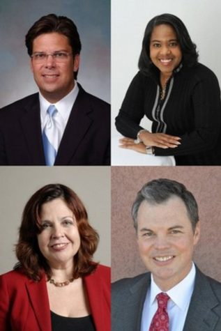 Cliff Davis, top left, Joyce Ester, top right, Betty Inclan, bottom left, and Vernon Smith have all been announced as the four candidates in the running to become the president of Moorpark College.