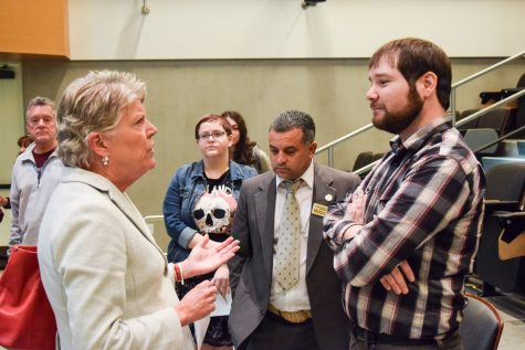 Candidates reach out to students and the public at an informational forum