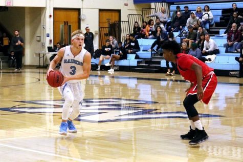 Moorpark Men's Basketball makes a statement with 47 point victory over SBCC