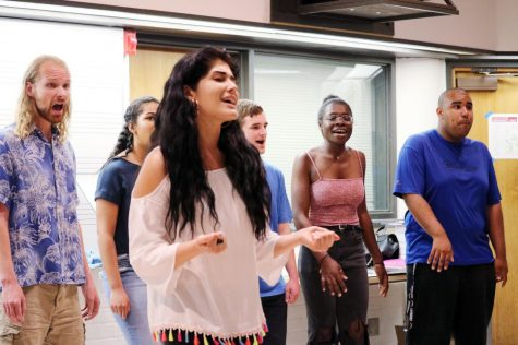 A cappella by Dynamix performs at Multicultural Day