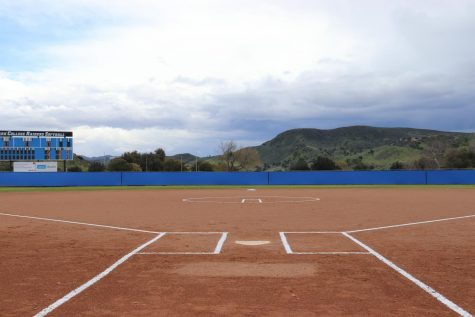 Softball field prepped and ready to go for the Raiders first home game against Pierce College. This was their first home conference game for the 2019 season. Photo credit: Phoebe Jackels