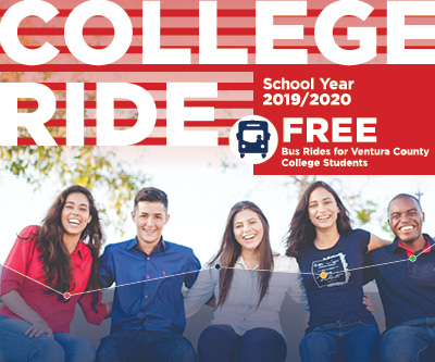 Advertisement for College Ride Program