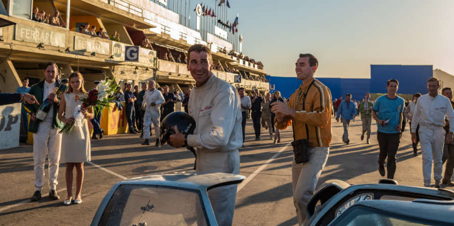 Christian Bale (Center) as British race car driver Ken Miles in
