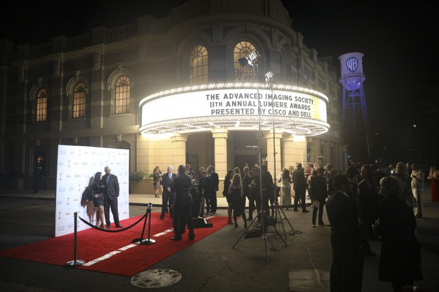 Crowds gather outside after the conclusion of the 11th annual Lumiere Awards at the Warner Brothers lot in Burbank, Calif. on Jan. 22. Photo credit: Ryan Bough