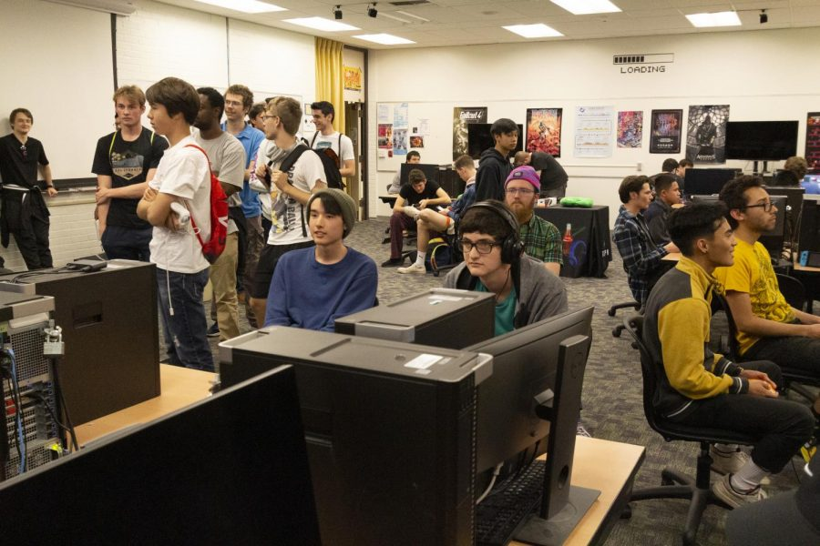 Local gamers gather for the Super Smash Tournament at Moorpark College on Friday, Feb. 21, in the Technology building. Photo credit: Justin Downes