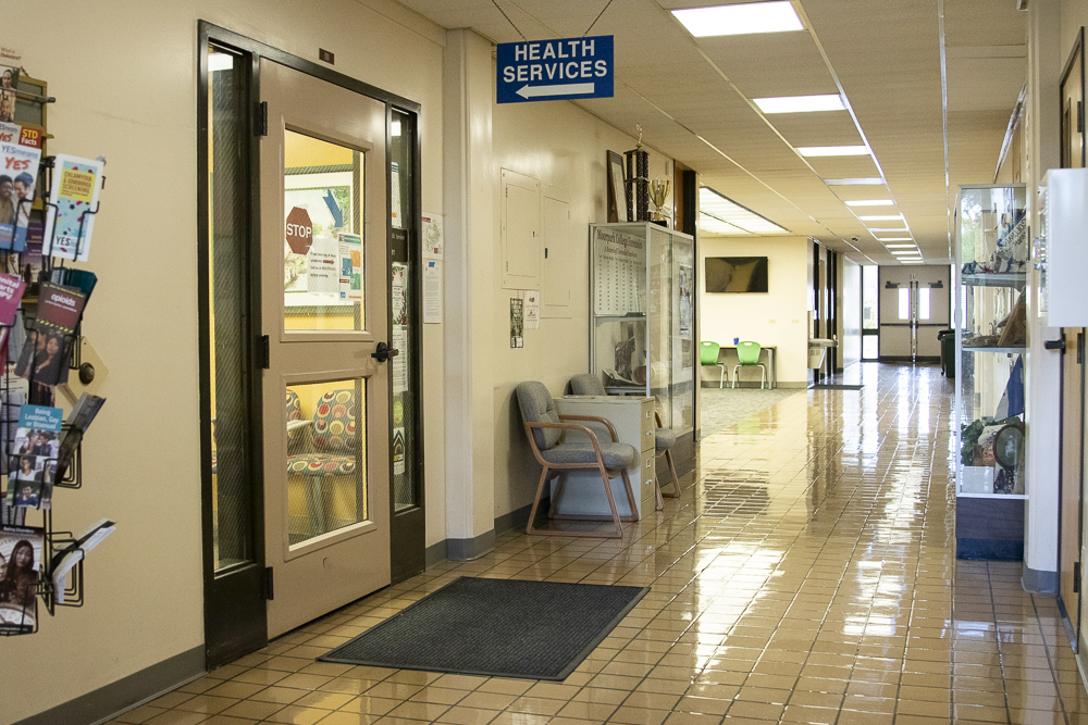The Student Health Center remains quiet on Tuesday, March 17, in the Administration building. Students are being told to call in before making a physical visit to the health center.