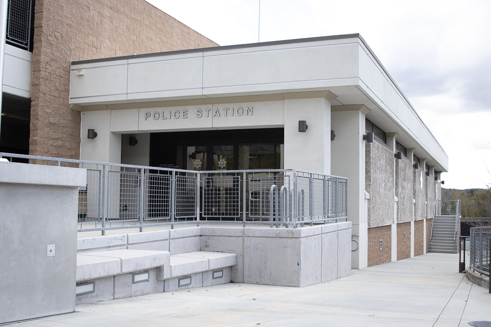 The campus police station remains quiet during the break from on-campus classes on Tuesday, March 17. The day prior, all student workers were issued a notice to not go to campus.