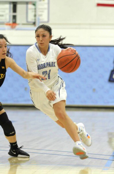 Jazzy Carrasco turns the jets on as she blows by her defender during Moorpark's home game against Cypress College on Saturday March 7.