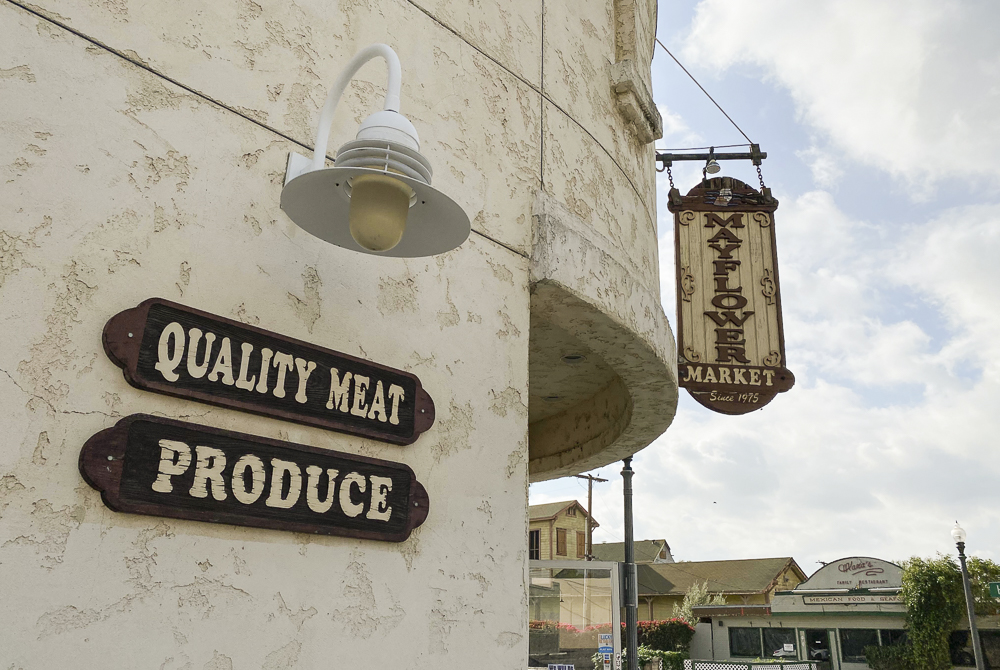 The Mayflower Market remains open for customers on Thursday, April 2, in Moorpark, Calif. Owner Rifaat Hijaz says that most items are stocked up, and business is doing well with the increased flow of customers.