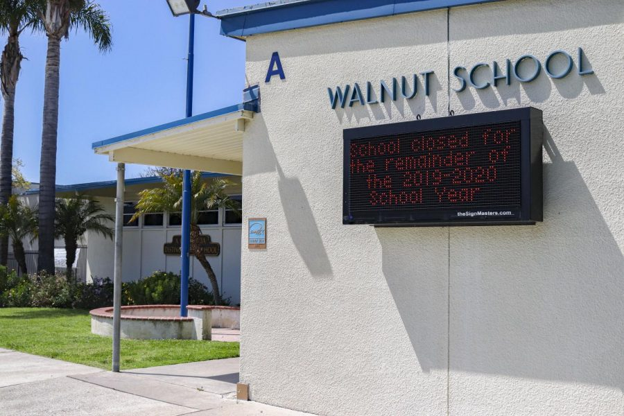 Walnut Elementary School in Newbury Park, Calif. remains closed on Friday, April 3, due to COVID-19 and order from Ventura County Office of Education. Photo credit: Whitney Bussell