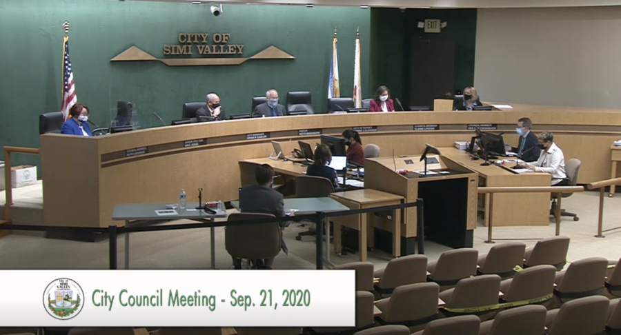 The Simi Valley City Council begins its meeting on Sept. 21, in Simi Valley, CA.