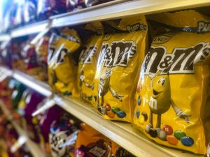 Bags of Halloween candy line the shelfs in Oak Park, CA on Wednesday, Sept. 16. Photo credit: Ryan Bough