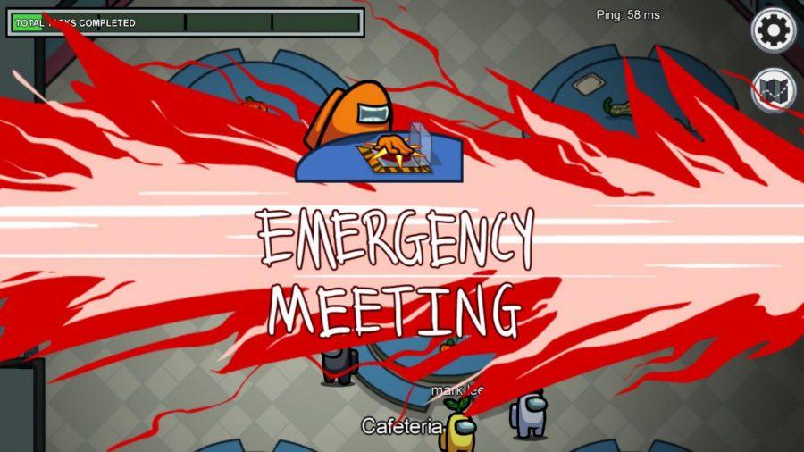 Emergency Meeting alert. Screengrab from