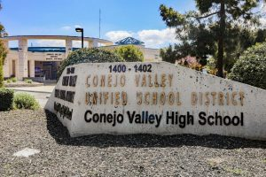 The Conejo Valley Unified School District in Thousand Oaks, CA. remains closed on Friday, April 3, 2020. The district will remain closed for the rest of the 2019-2020 academic school year due to the COVID-19 pandemic. Photo credit: Ryan Bough