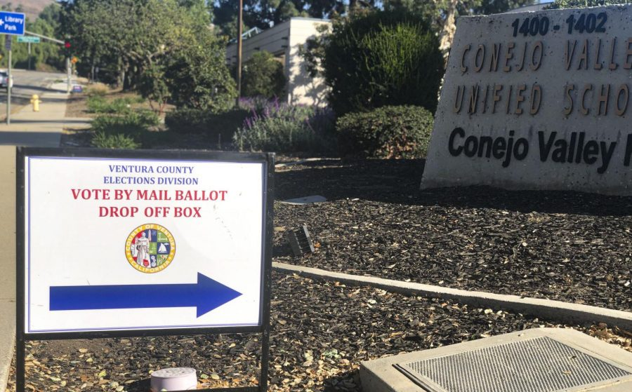 The drop off box at the Conejo Unified School District office in Thousand Oaks is open from 8:00 a.m. to 4:00 p.m. on weekdays. Photo credit: Ryan Bough