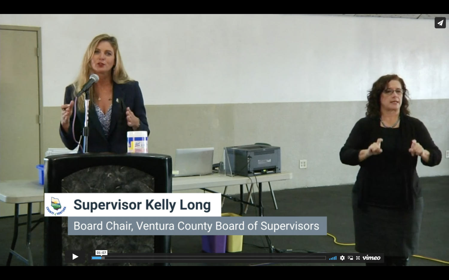 Supervisor Kelly Long at Ventura County's press conference on Nov. 12, 2020
