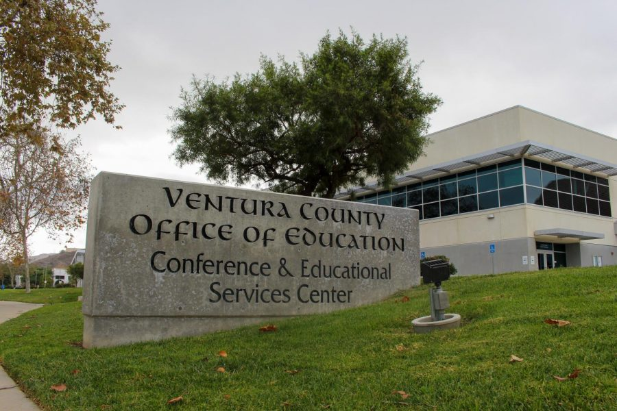 The+Ventura+County+Office+of+Education+in+Camarillo%2C+Calif.+remains+closed+on+Friday%2C+Dec.11.+The+office+has+limited+visitations+due+to+the+COVID-19+pandemic.+Photo+credit%3A+Leslie+Mendez