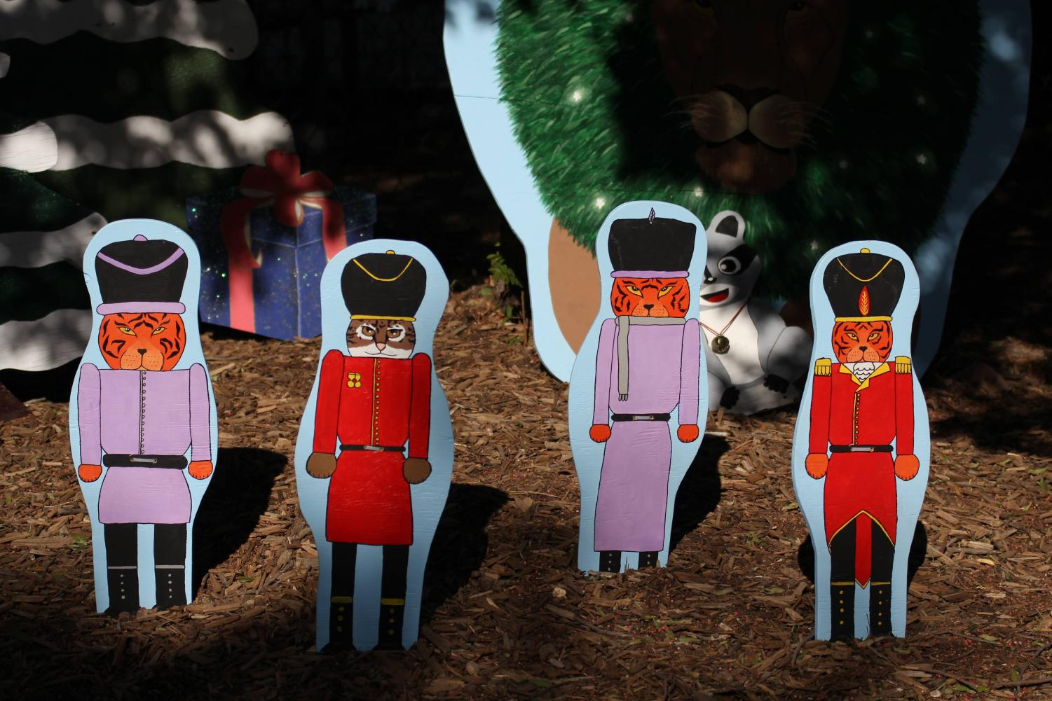 These cutouts are apart of the red team, Ira's Kingdom, promotion photo area.