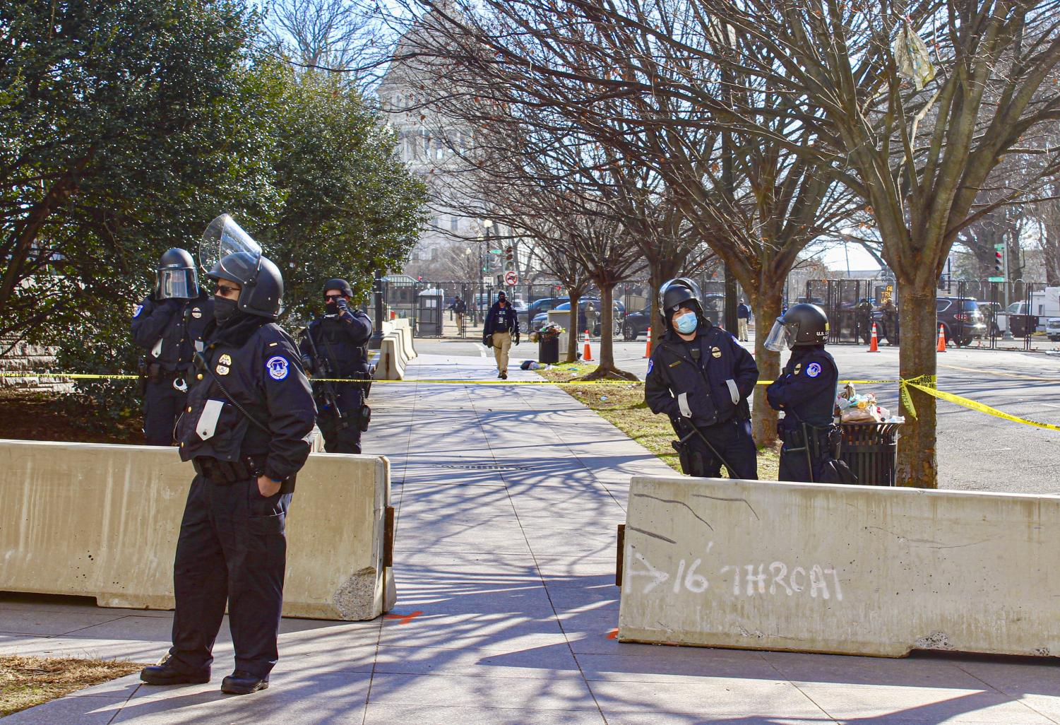 Security was heightened in and around the capitol in anticipation of protests during Joe Biden's inauguration on Jan. 20, in Washington D.C.