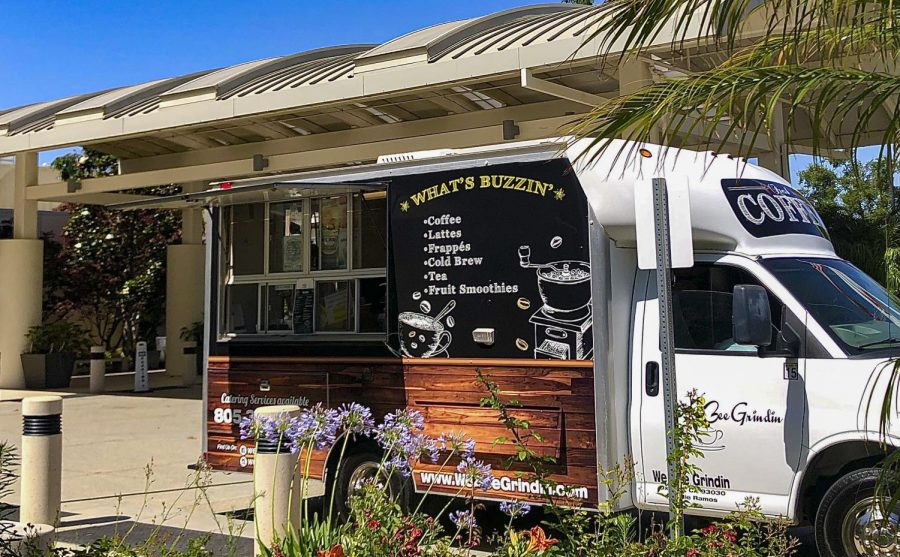 Gourmet coffee truck WeBeeGrindin serving in front of Simi Valley Hospital. Simi Valley, CA. Photo provided by Brooke Ramos.
