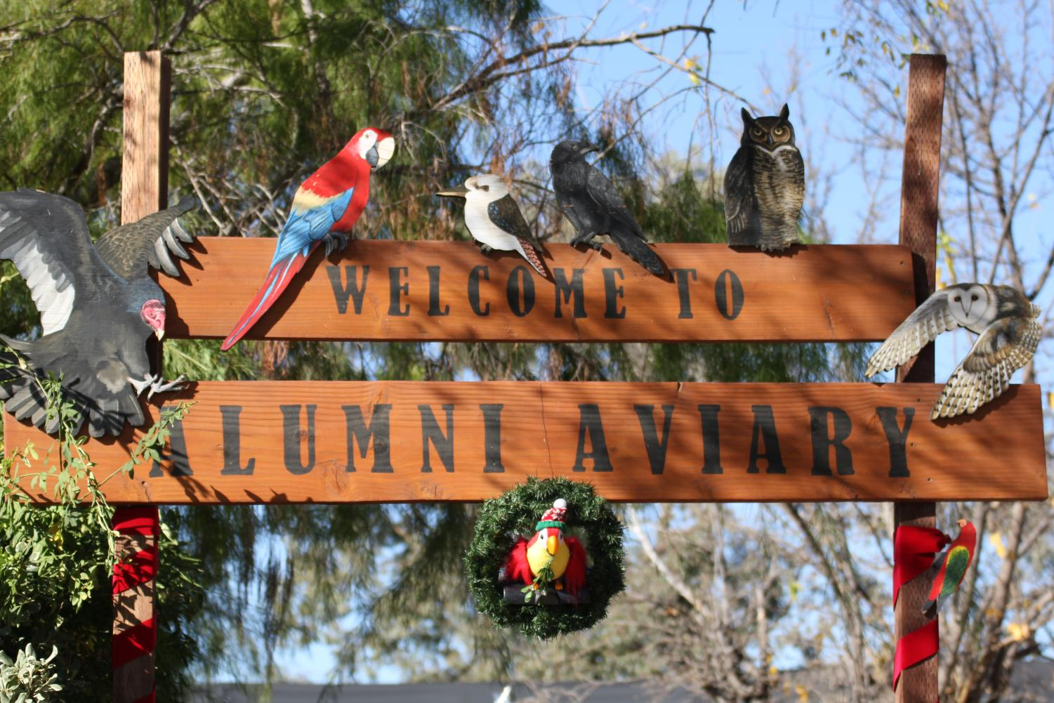 The Alumni Aviary entrance at the America's Teaching Zoo at Moorpark College.