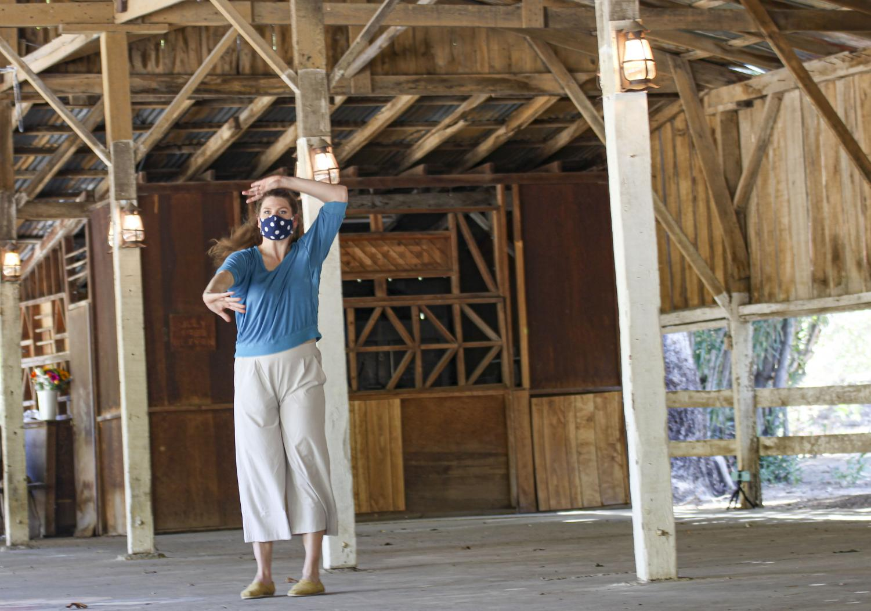 "Megill & Company artistic director, Beth Megill performs her self-choreographed solo entitled ""Breathe."""