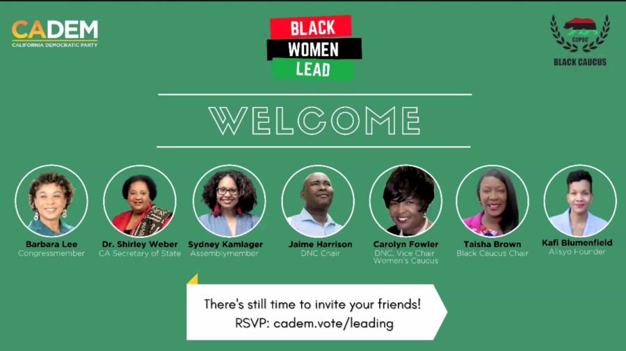 The California Democratic Party collaborated with the CADEM Black Caucus to create the Black women lead forum on Feb. 25, 2021 over zoom.