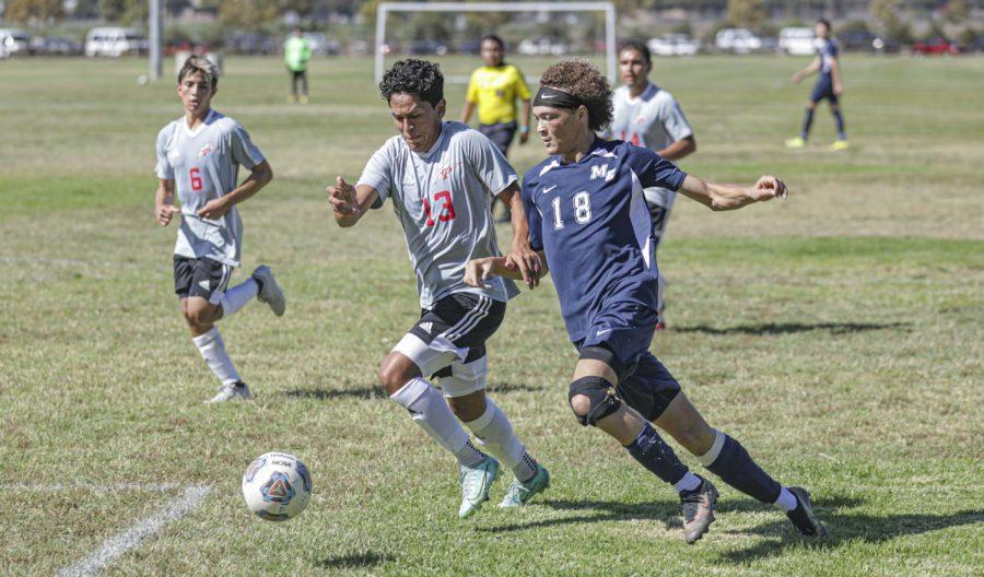 Moorpark Men's Soccer strike early against Palomar